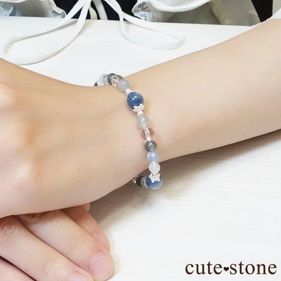 【ICE AGE】カイヤナイト ブルームーンストーン ブルートパーズ ラブラドライト アイスクリスタル グレームーンストーンのブレスレットの写真5 cute stone