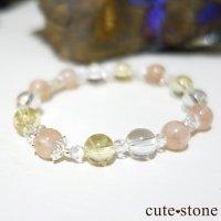 【Pale citrus】モルガナイト(オレンジベリル)水晶 シトリンのブレスレットの画像