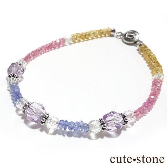 【ラスコロラダス】ピンクスピネル タンザナイト ローズアメジスト 水晶 シトリンのブレスレット の写真0 cute stone