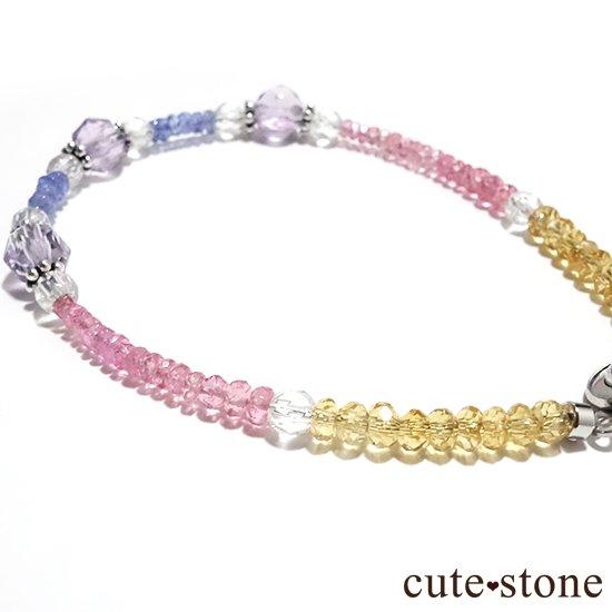 【ラスコロラダス】ピンクスピネル タンザナイト ローズアメジスト 水晶 シトリンのブレスレット の写真2 cute stone