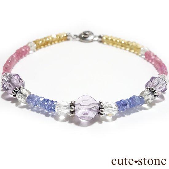 【ラスコロラダス】ピンクスピネル タンザナイト ローズアメジスト 水晶 シトリンのブレスレット の写真3 cute stone