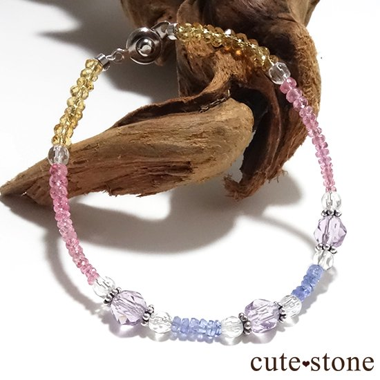 【ラスコロラダス】ピンクスピネル タンザナイト ローズアメジスト 水晶 シトリンのブレスレット の写真4 cute stone