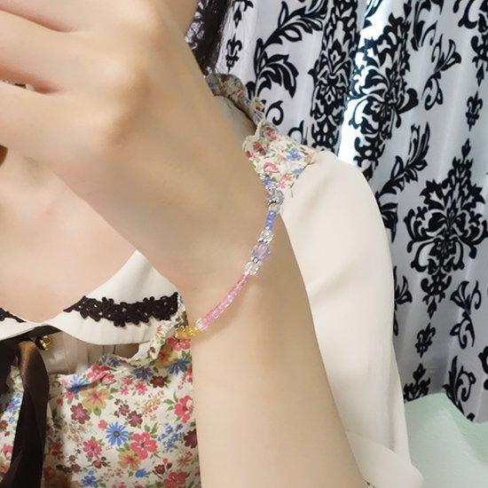 【ラスコロラダス】ピンクスピネル タンザナイト ローズアメジスト 水晶 シトリンのブレスレット の写真6 cute stone
