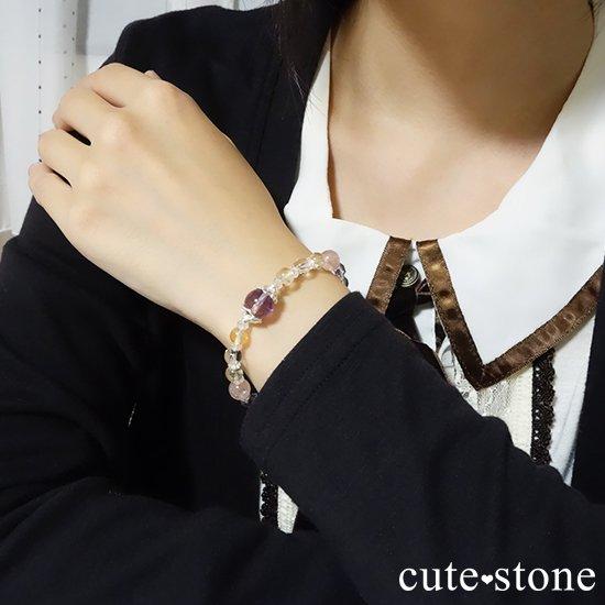 【天華爛漫】 アメトリン アイスクリスタル モルガナイト  ローズアメジスト シトリン 水晶のブレスレットの写真2 cute stone