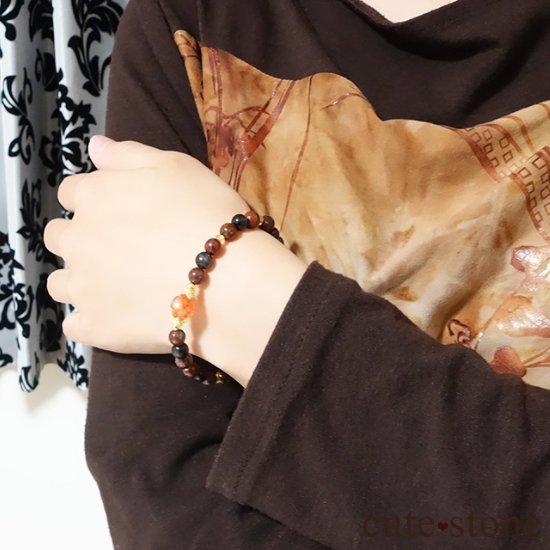 【大地の輝き】 サンストーン ピーターサイト ブラックスキャポライト シトリンのブレスレットの写真4 cute stone