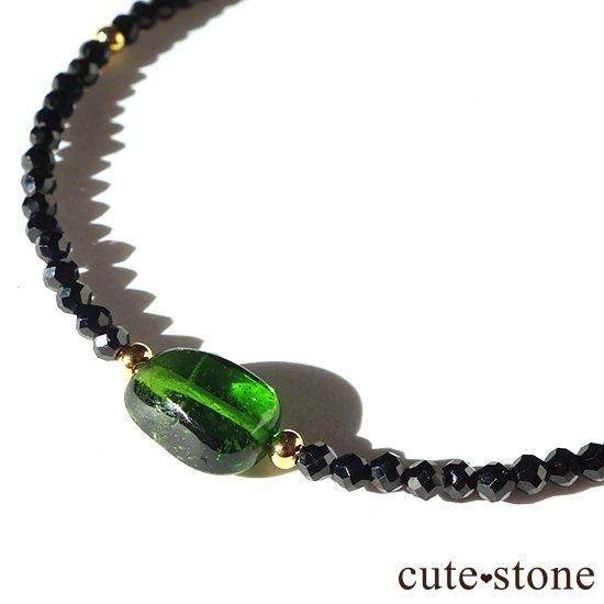 【cool beauty】クロムダイオプサイト ブラックスピネルのブレスレットの写真0 cute stone