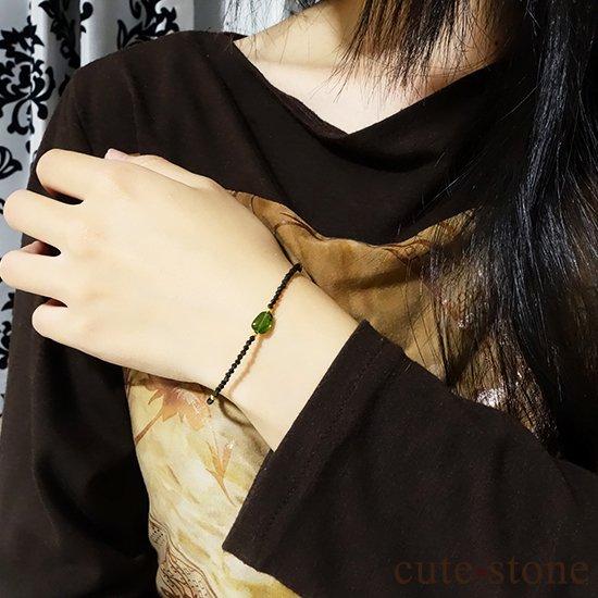 【cool beauty】クロムダイオプサイト ブラックスピネルのブレスレットの写真1 cute stone