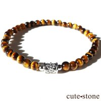 【Simple Bracelet - タイガーアイ -】タイガーアイのシンプルブレスレットの画像