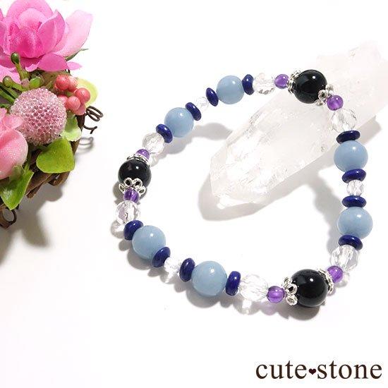 【冬のお守り】モリオン エンジェライト ラピスラズリ アメジスト 水晶の写真3 cute stone