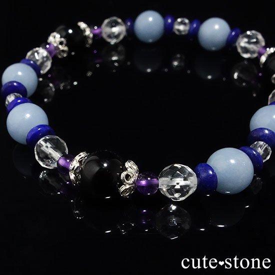 【冬のお守り】モリオン エンジェライト ラピスラズリ アメジスト 水晶の写真4 cute stone