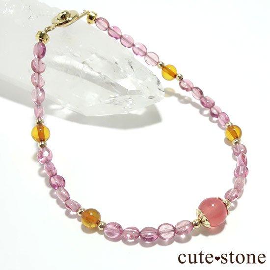 【Le Spectre de la Rose】インカローズ(ロードクロサイト) ピンクトルマリン アンバーのブレスレットの写真0 cute stone