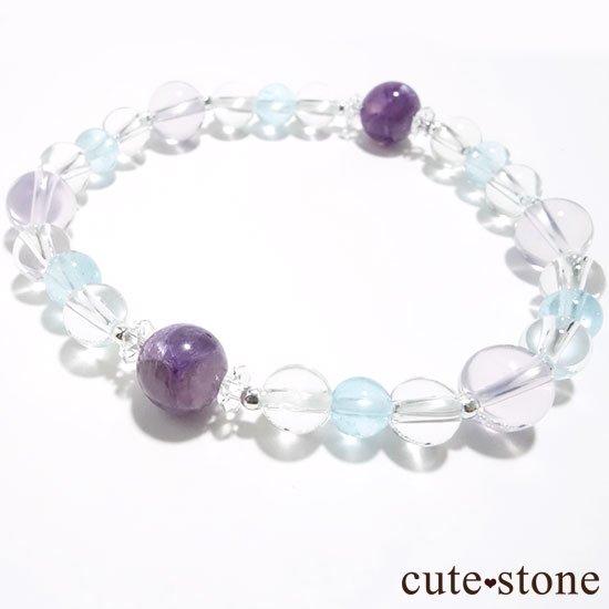 【山紫水明】スコロライト エンジェルシリカ アイスクリスタル ブルートパーズのブレスレットの写真2 cute stone