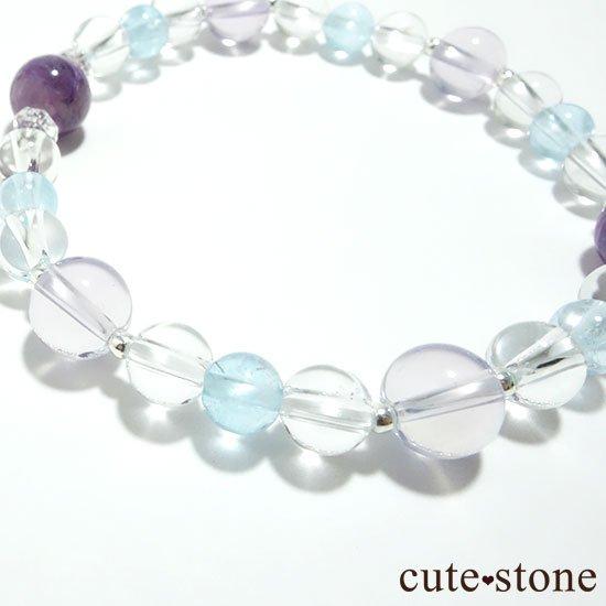 【山紫水明】スコロライト エンジェルシリカ アイスクリスタル ブルートパーズのブレスレットの写真4 cute stone
