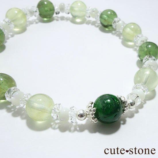 【Treasure of Dryad】クロムダイオプサイト プレナイト グリーンアパタイトのブレスレットの写真0 cute stone