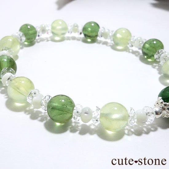 【Treasure of Dryad】クロムダイオプサイト プレナイト グリーンアパタイトのブレスレットの写真1 cute stone