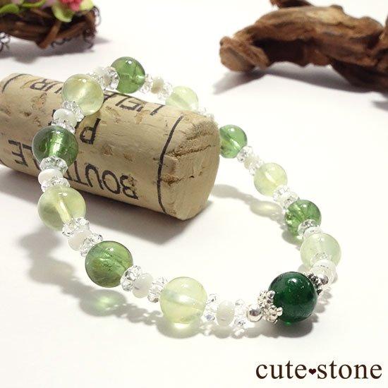 【Treasure of Dryad】クロムダイオプサイト プレナイト グリーンアパタイトのブレスレットの写真4 cute stone