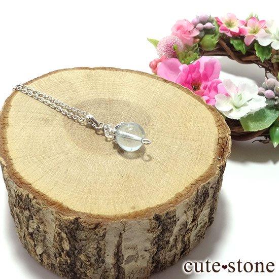 【Birthday Necklace 11月】 ブルートパーズと水晶で作った誕生石ネックレスの写真2 cute stone