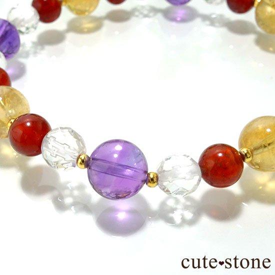 【秘密の花園】 アメジスト シトリン ヘソナイト 水晶のブレスレットの写真0 cute stone