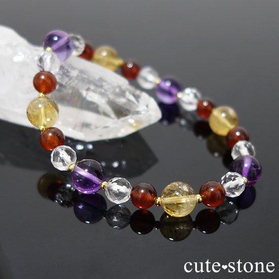 【秘密の花園】 アメジスト シトリン ヘソナイト 水晶のブレスレットの写真3 cute stone