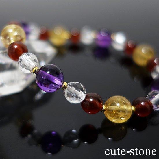 【秘密の花園】 アメジスト シトリン ヘソナイト 水晶のブレスレットの写真4 cute stone