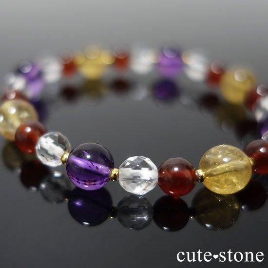 【秘密の花園】 アメジスト シトリン ヘソナイト 水晶のブレスレットの写真5 cute stone