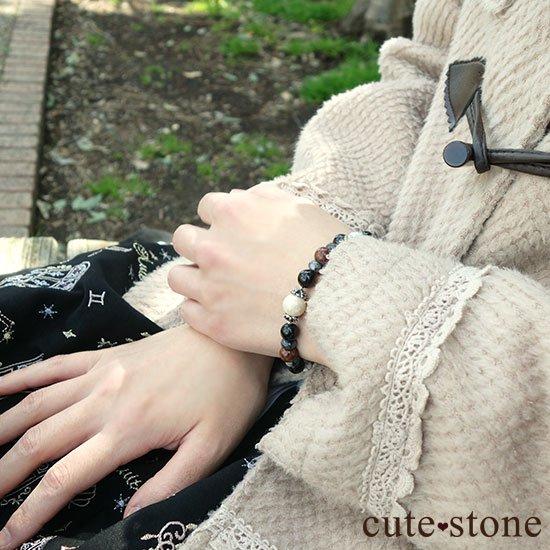 【Power of the earth】リバーストーン、オニキス、ラルビカイト、ピーターサイト、マグネサイトのブレスレットの写真8 cute stone