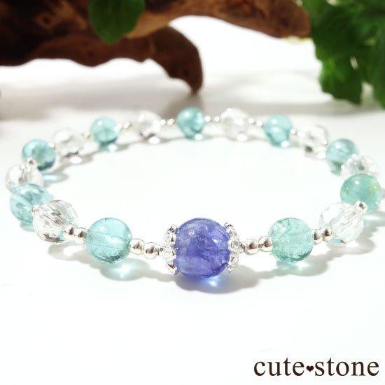【水の紋章】タンザナイト アパタイト 水晶のブレスレットの写真1 cute stone