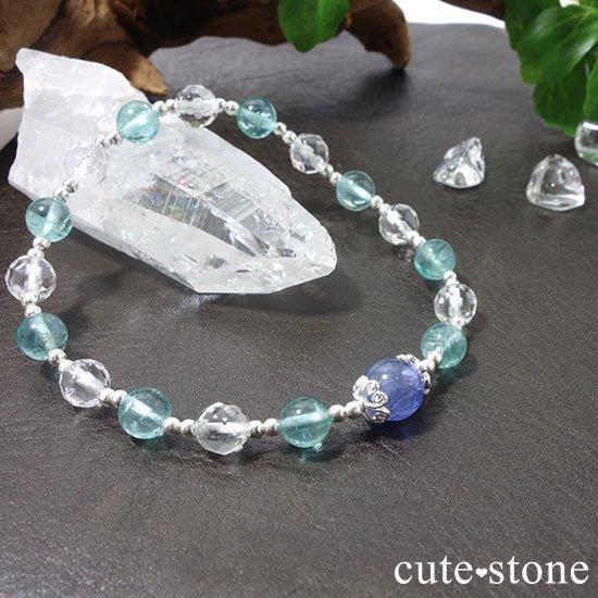 【水の紋章】タンザナイト アパタイト 水晶のブレスレットの写真5 cute stone