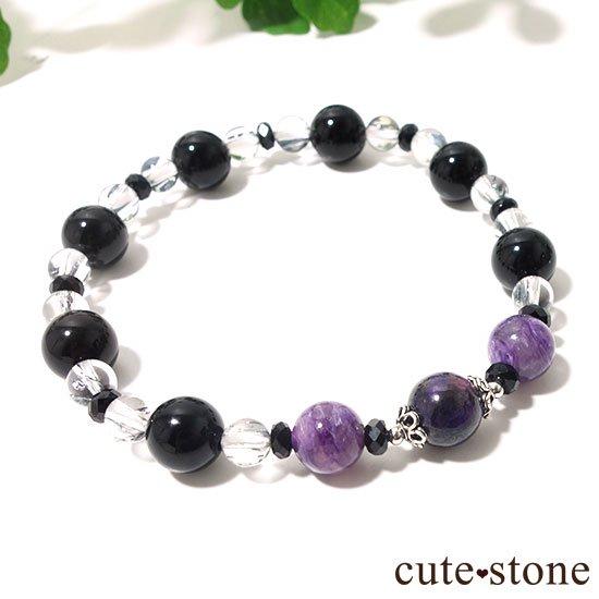 【Purple illusion】スギライト チャロアイト モリオン スティブナイトインクォーツのブレスレットの写真7 cute stone
