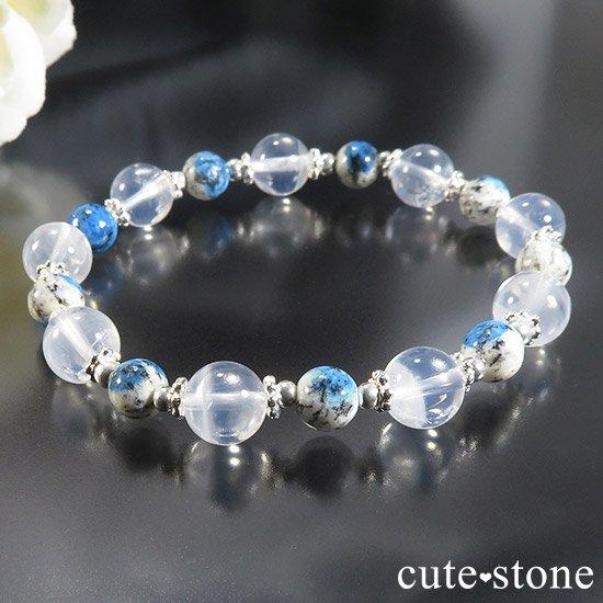 【K2と青空】K2ムーンクォーツ K2アズライトのブレスレットの写真2 cute stone