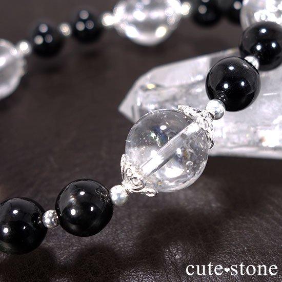 【虹色の星空】ヒマラヤ産アイリスクォーツ ブラックスターダイオプサイトのブレスレットの写真3 cute stone