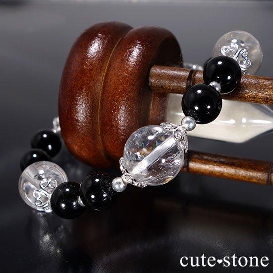 【虹色の星空】ヒマラヤ産アイリスクォーツ ブラックスターダイオプサイトのブレスレットの写真5 cute stone