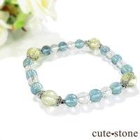 【星祭】レモンクォーツ ブルーフローライト 水晶のブレスレットの画像