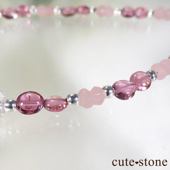 【MAX lovely】ピンクトルマリン スターローズクォーツ グァバクォーツのブレスレットの写真4 cute stone