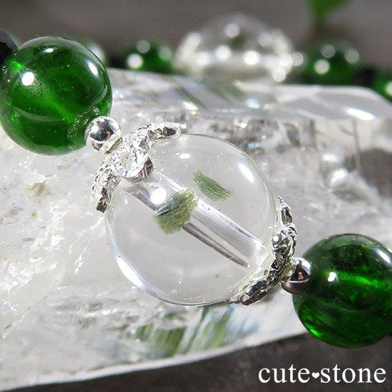 【Green Crystal】 フックサイトインクォーツ クロムダイオプサイト ルビーインゾイサイト ブラックスピネルのブレスレットの写真1 cute stone