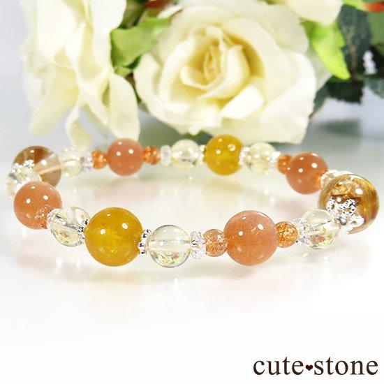 【太陽のかけら】 オレンジゴールドルチル ヘリオドール オレンジムーンストーン サンストーン シトリンのブレスレットの写真4 cute stone