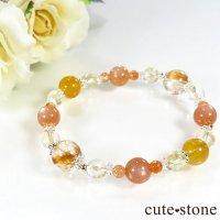 【太陽のかけら】 オレンジゴールドルチル ヘリオドール オレンジムーンストーン サンストーン シトリンのブレスレットの画像