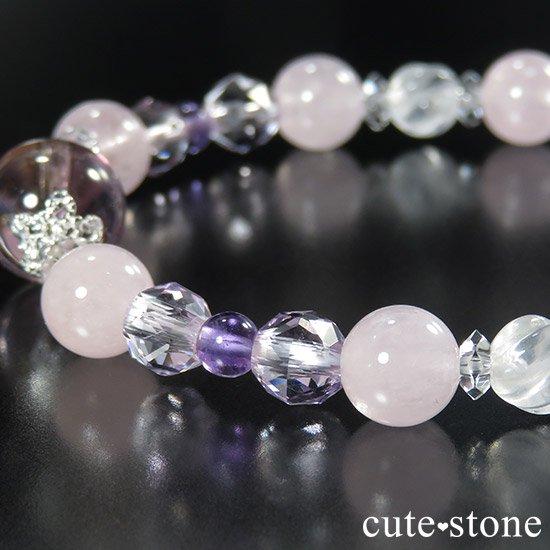 【桜色の季節】 アメトリン モルガナイト アメジスト ミルキークォーツのブレスレットの写真4 cute stone