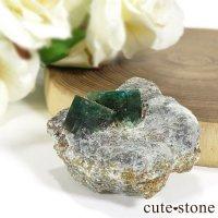 パキスタン スワート産の母岩付きエメラルドの原石(標本)20gの画像