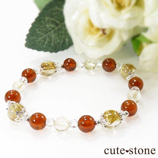 【Twilight】 ゴールドルチル ヘソナイト シトリンのブレスレットの写真2 cute stone