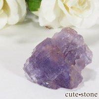スペイン ベルベス産 パープルフローライトの原石(鉱物標本)18.5gの画像