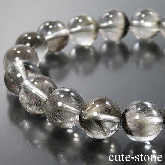 【1/2売り対象】 プラチナクォーツのシンプルブレスレット 10mmの写真0 cute stone