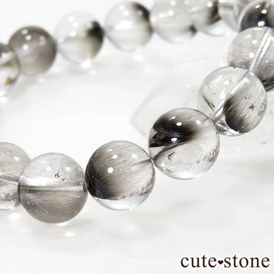 【1/2売り対象】 プラチナクォーツのシンプルブレスレット 10mmの写真2 cute stone