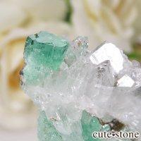 コロンビア ムゾー鉱山産 エメラルドの母岩付き結晶(原石) 13gの画像
