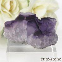 中国 雲南省産 パープルフローライトの結晶(原石) 18.6gの画像