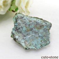 南アフリカ産 ターコイズの原石 (スライス) 48gの画像