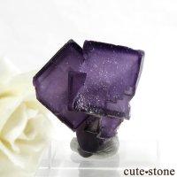 中国 雲南省産 パープルフローライトの結晶(原石) 20.2gの画像
