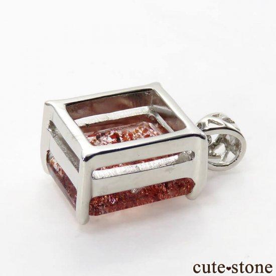ファイアークォーツ(レピドクロサイトインクォーツ)のペンダントトップの写真2 cute stone