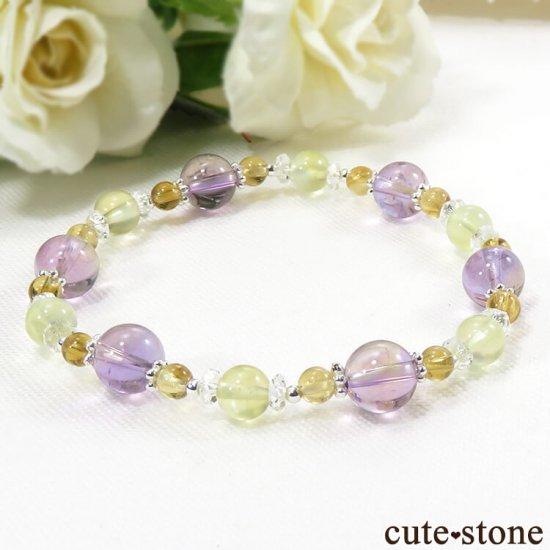 【FLOWER】 アメトリン プレナイト シトリン 水晶のブレスレットの写真0 cute stone