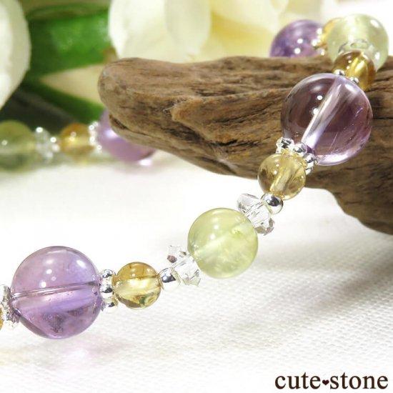 【FLOWER】 アメトリン プレナイト シトリン 水晶のブレスレットの写真1 cute stone